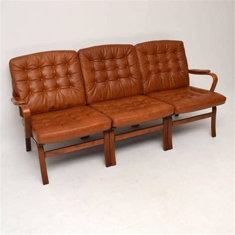retro leather sofa retro leather bentwood sofa vintage 1970s at 1stdibs