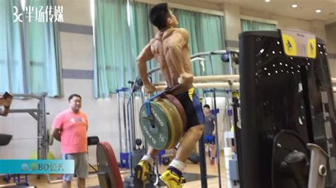 lu xiaojun kg dips   gym