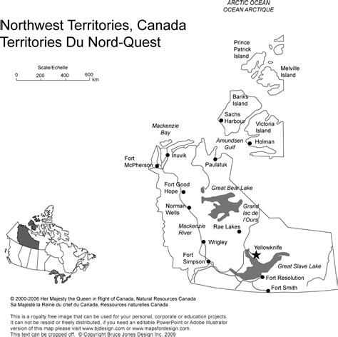 printable map of yellowknife canada and provinces printable blank maps royalty free