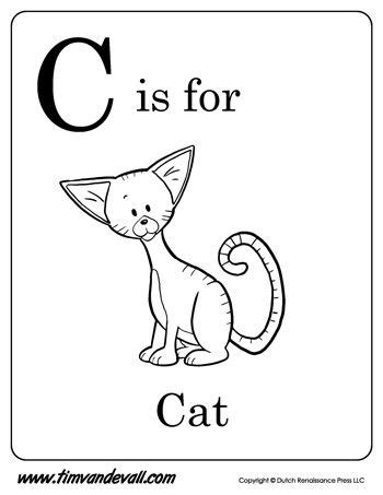 letter c cat coloring page c is for cat letter c coloring page alphabet book