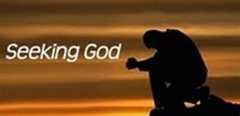 Seeking God seeking the lord inquiring of the lord