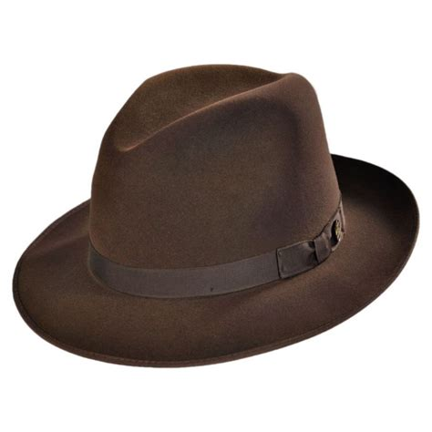Stetson Runabout Packable Fur Felt Fedora Hat Crushable