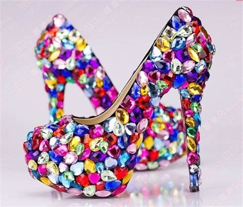 colorful pumps bright colorful rhinestone pumps pictures photos and