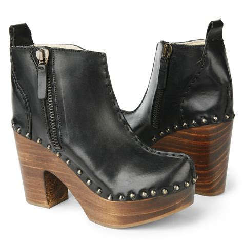 clogs boots for kurt geiger singapore clog boots in black lyst