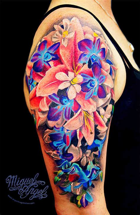 colorful tattoos for females 111 artistic and striking flower tattoos designs