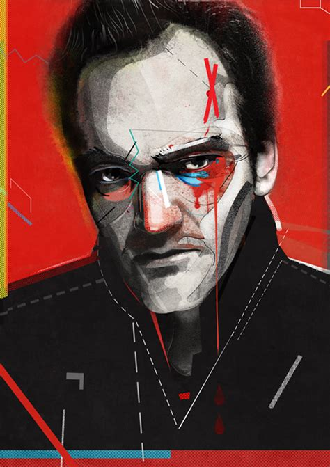 Plakat Quentin Tarantino by Plakat Quentin Tarantino żaneta Antosik Grafika