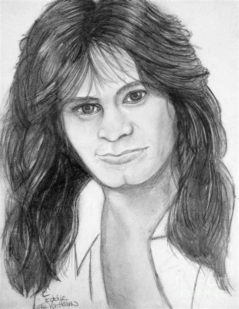 eddie van halen long hair eddie van halen drawing by manon zemanek