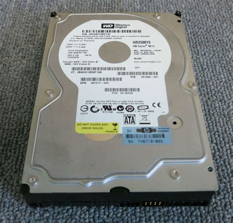 Hdd Wd 250gb western digital 431689 001 wd250ys 250gb sas 7200rpm 3 5 drive