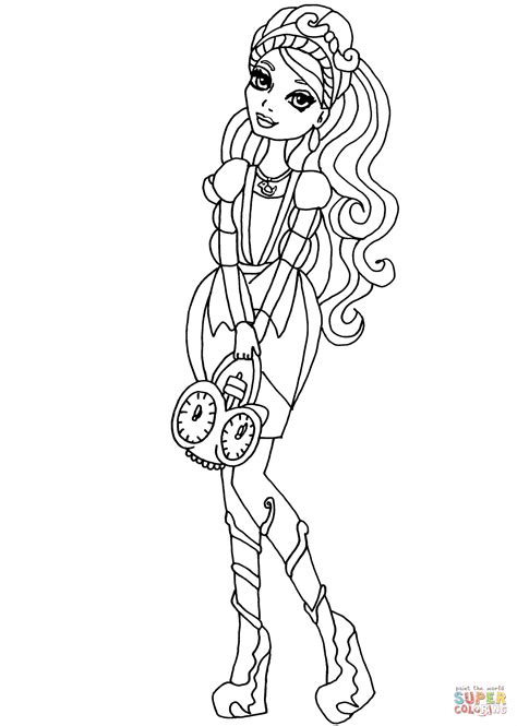 ever after high coloring pages ashlynn ella ever after high ashlynn ella coloring page free