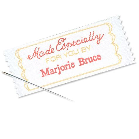 Sewing Labels Handmade By - made especially for you by personalized sewing label
