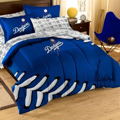dodgers bed set los angeles dodgers comforter set with shams dodgers mlb