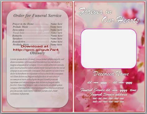 free obituary templates printable newspaper template search results calendar 2015