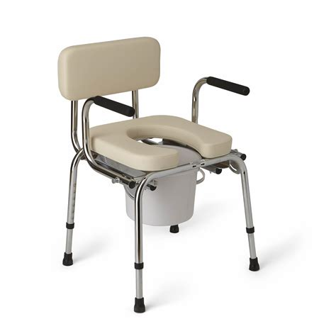 commode toilet chair medline drop arm commode padded health