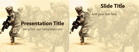 military ppt template free powerpoint templates