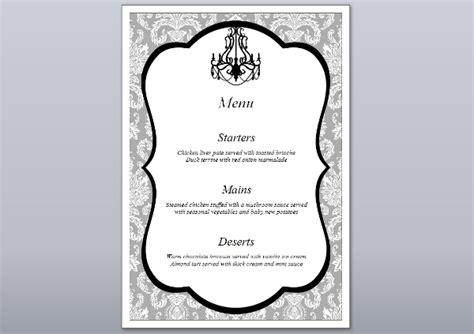 formal menu card template 6 engagement menu templates designs templates