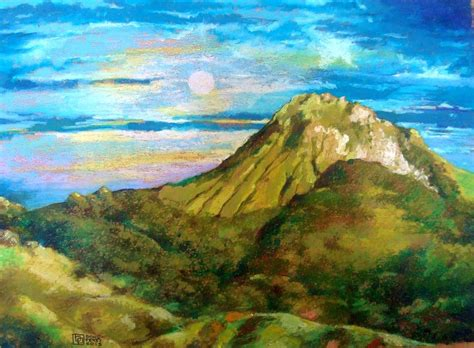 painting montana mount apo painting by bong perez