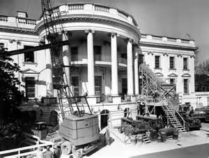 white house remodel rare look inside president truman s white house reconstruction photos huffpost
