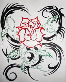 flower tattoos collections tribal hearts and roses