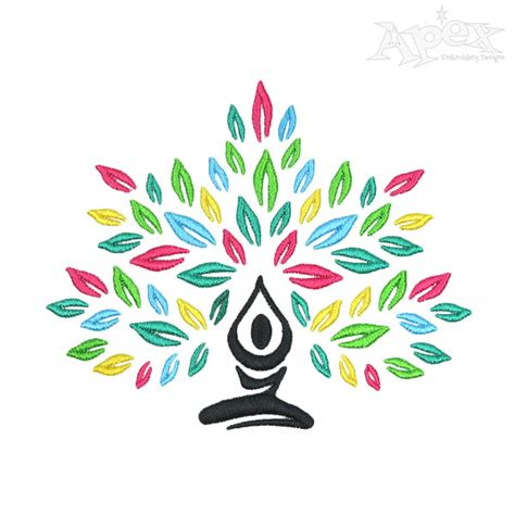 embroidery design yoga yoga meditation embroidery design