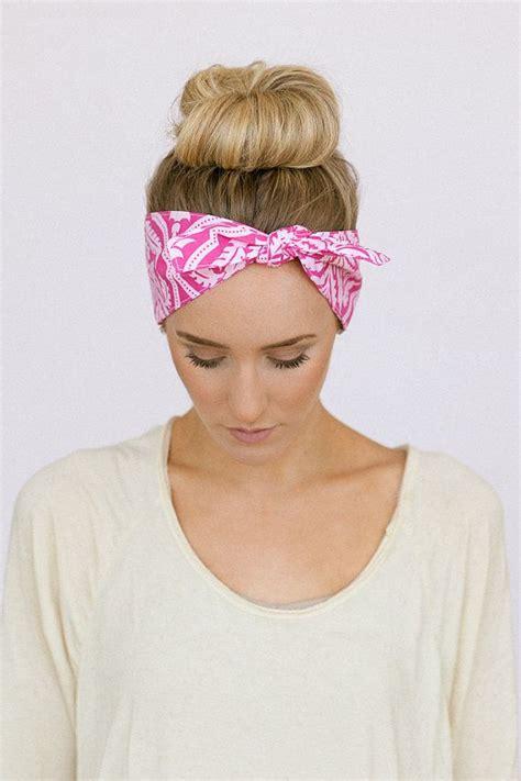 dolly bow pink tie up headscarf headband bandana hair