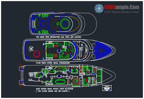 ship dwg boat plan dwg