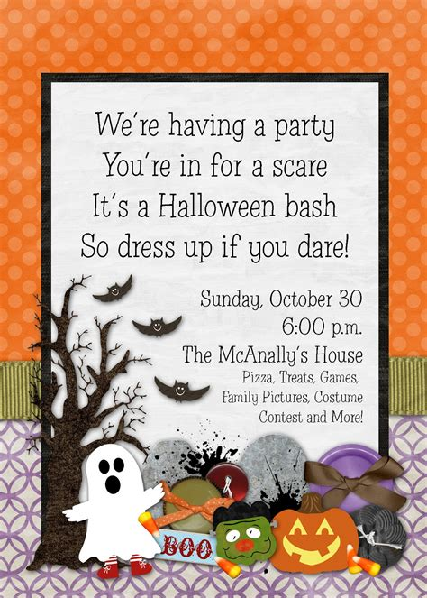 design halloween party invitation card slightly askew designs halloween party