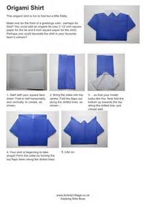 How To Fold An Origami Shirt - origami shirt