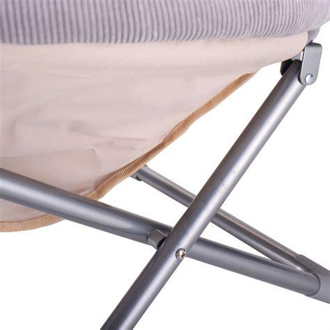 oversized seat oversized large folding saucer moon chair corduroy