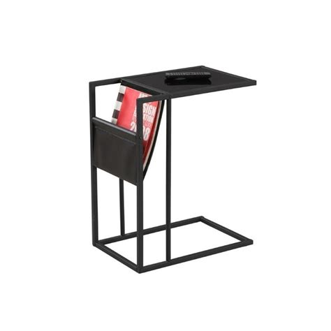 magazine rack table l metal side table with magazine rack in black i 3068