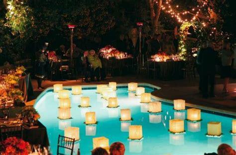 floating pool lights for wedding 36 inspiring and fresh poolside wedding ideas weddingomania