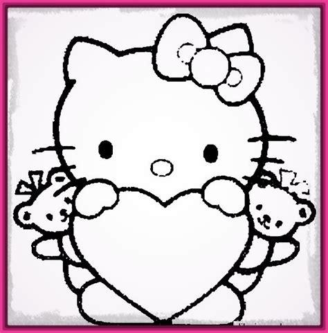 imagenes de kitty para iluminar dibujos de hello kitty para colorear ahora archivos