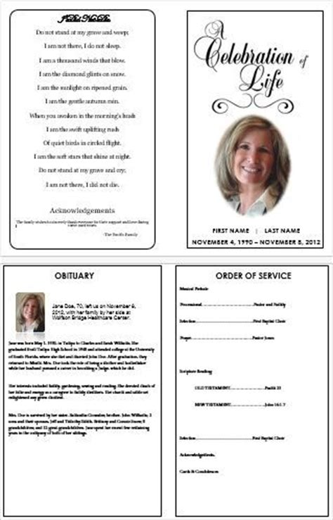 April 2014 Funeral Memorial Order Of Service Advice Memorial Template Microsoft Word