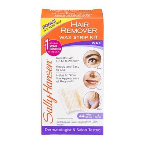 sally hansen hair remover wax sally hansen wax strips hair remover kit for brows