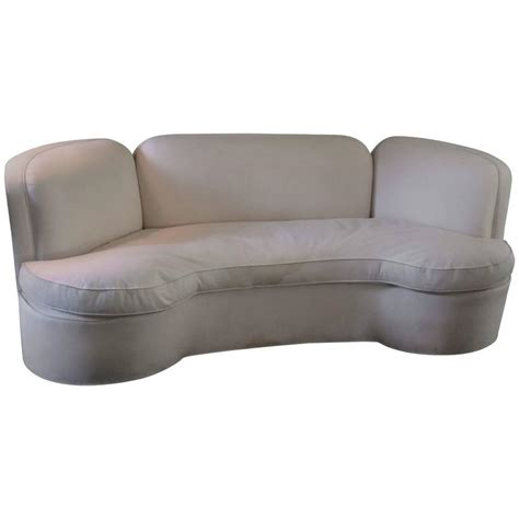 Sexy Curved Vintage Sofa For Sale At 1stdibs Vintage Curved Sofa
