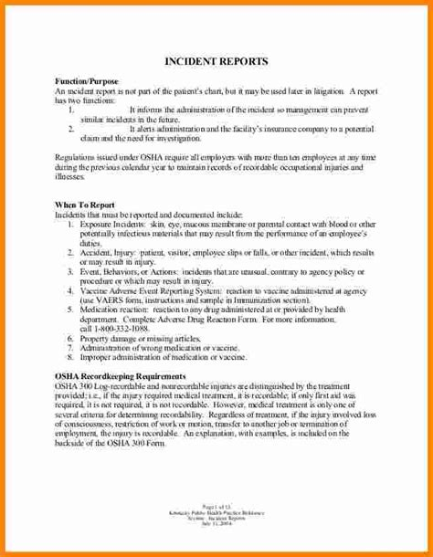 how to write a work report template 12 how to write an employee incident report ledger paper