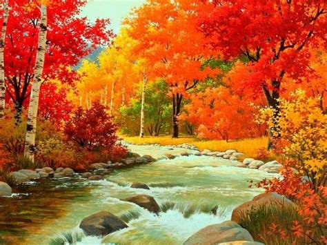 195 best paintings trees autumn images on draw nature and painting