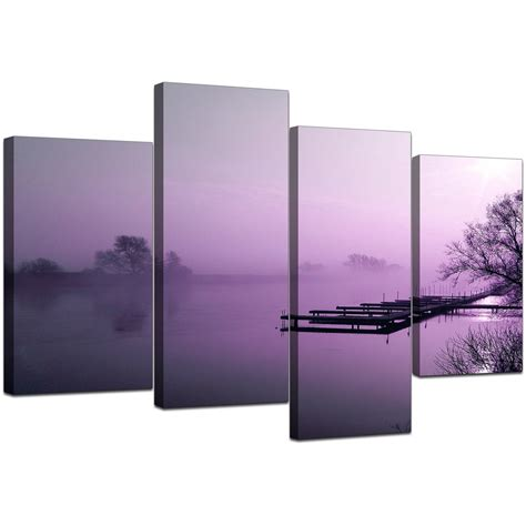 landscape canvas prints canvas prints of river landscape in purple for your living