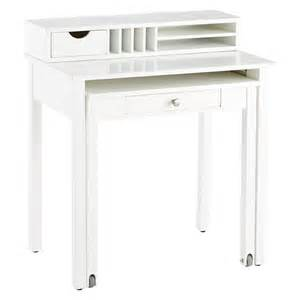 Solid White Desk White Solid Wood Roll Out Desk The Container Store