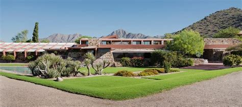 Floor Plan House by Seeking The Wright Path At Taliesin West Architect