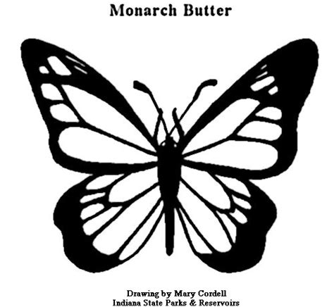 Monarch Butterfly Template   Cliparts.co