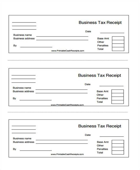 printable business receipt template 45 printable receipt templates free premium templates