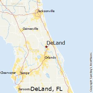 deland florida map best places to live in deland florida