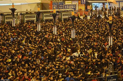 new year outside china guangzhou station strands 100 000 travellers