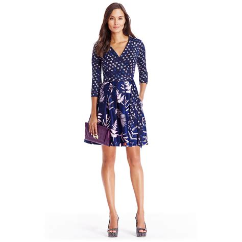 Diane Furstenberg The Wrap lyst diane furstenberg silk jersey wrap dress