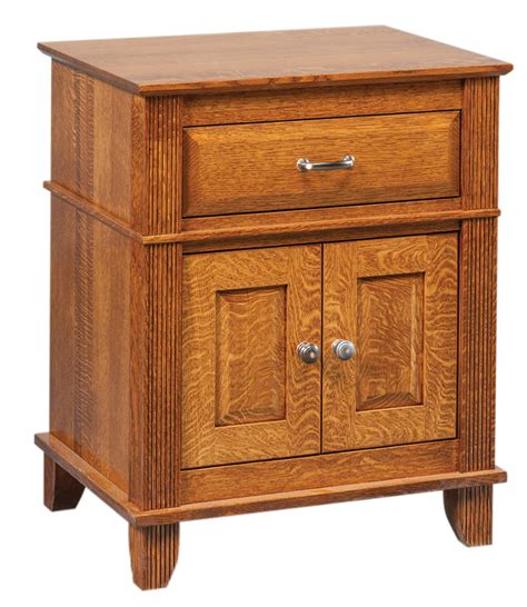 Nightstand With Door And Drawer Arlington 1 Drawer 2 Door Nightstand Ohio Hardwood