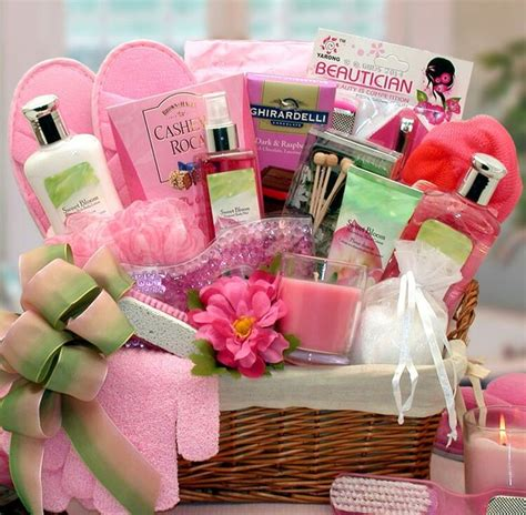 relaxing mum of caf relax with a personal spa basket gifts pink spa basket and spas