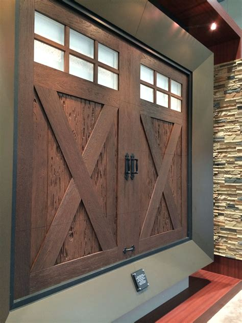 Carriage Hardware For Garage Doors Clopay Ridge Collection Faux Wood Carriage Style Garage Door With Seeded Glass Windows