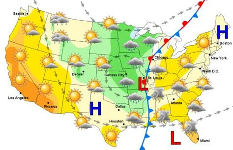 national temperature map national weather map my