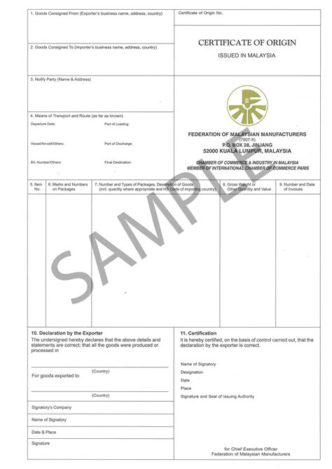 us certificate of origin template non preferential certificate of origin
