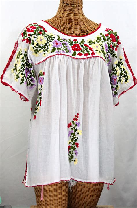 Blouse By Liblre quot lijera libre quot plus size embroidered mexican blouse white